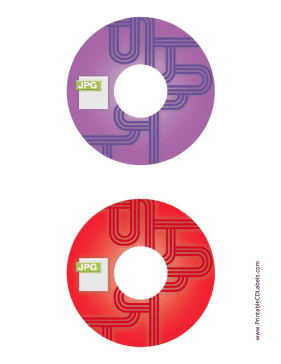 Printable Purple Red JPG Backups CD-DVD Labels