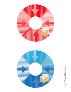 Printable Red Blue Envelope Backups CD-DVD Labels