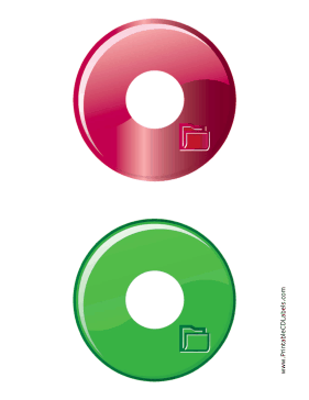 Printable Red Green Folder Backups CD-DVD Labels