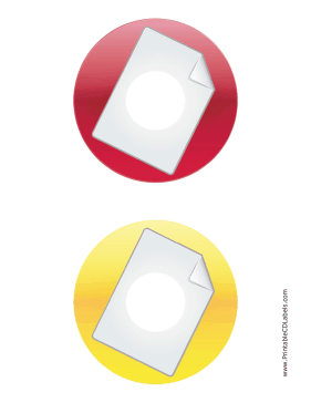 Printable Red Yellow Large Document Backups CD-DVD Labels