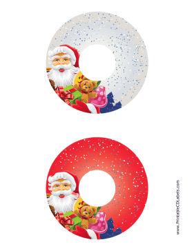 image relating to Printable Cd Labels known as Printable Santa Xmas CD-DVD Labels