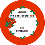 Printable Christmas Holly (Round) Canning Label