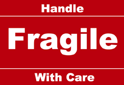 picture about Printable Fragile Label titled Printable Transport Sensitive Labels