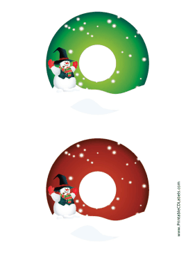 photograph about Printable Cd Labels referred to as Printable Snowman Xmas CD-DVD Labels