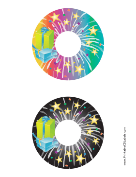 Printable Stars CD-DVD Labels