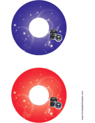 Printable Blue Red Lenses Photography CD-DVD Labels