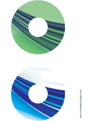 Printable Green Blue Strong Software CD-DVD Labels