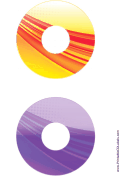 Printable Orange Purple Strong Software CD-DVD Labels