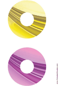 Printable Yellow Purple Strong Software CD-DVD Labels